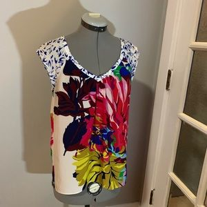 Anthropologie Maeve colorful sleeveless silk top